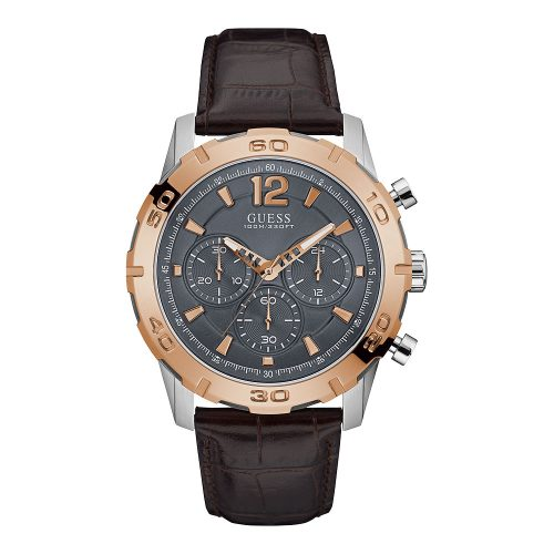 Reloj Guess Caliber Mens Rose Gold/Brown W0864G1