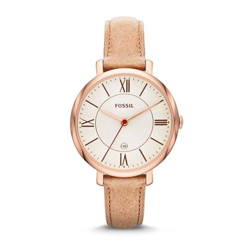Reloj Fossil Jacqueline White Dial Camel ES3487