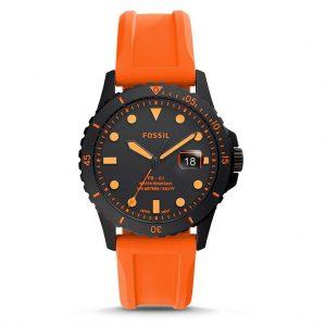FB-01 THREE HAND DATE black orange