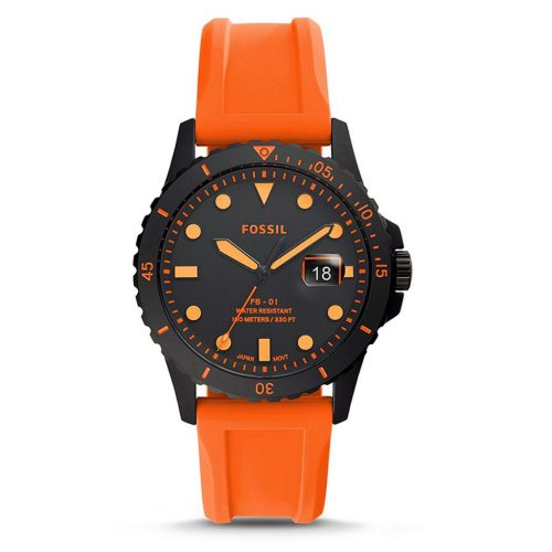 FB-01 THREE HAND DATE black orange