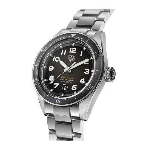 TAG HEUER AUTAVIA WBE5114.EB0173 steel & black/brown