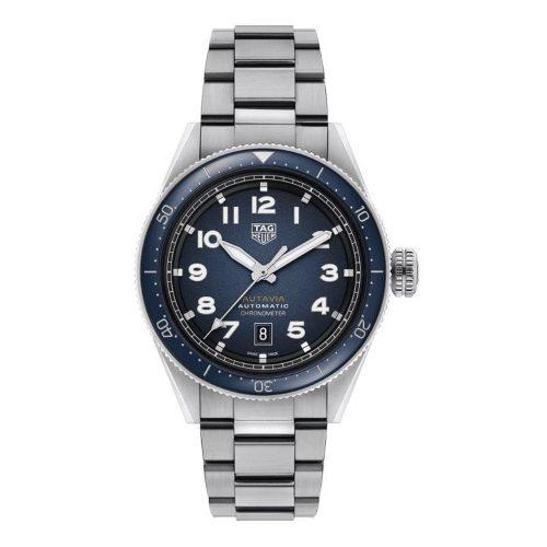 TAG HEUER AUTAVIA WBE5116.EB0173 steel & black/blue